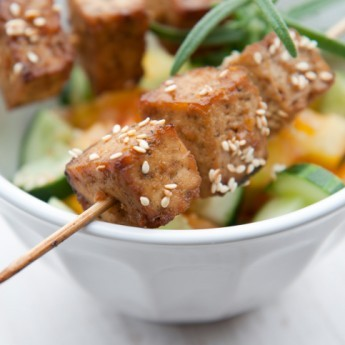 ricetta Spiedini vegetariani di tofu