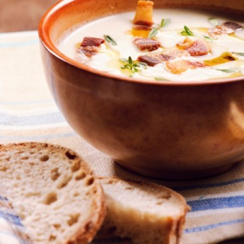 Ricetta Crema Di Miglio Con Pancetta Croccante