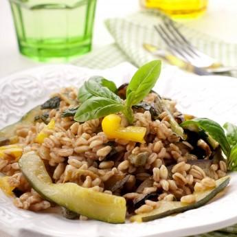 ricetta Insalata di farro con melanzane e zucchine