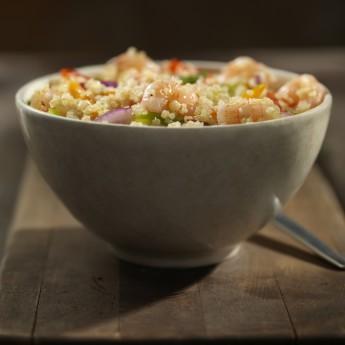 ricetta Insalata di quinoa, gamberi e verdure