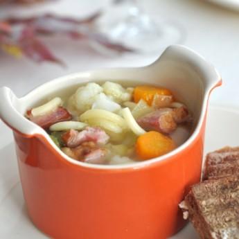 ricetta Minestra di verdure e pancetta affumicata