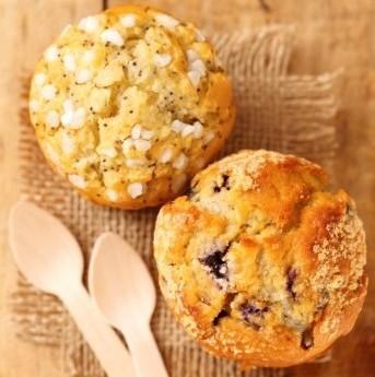 Muffins Con Semi Di Papavero E Mirtilli
