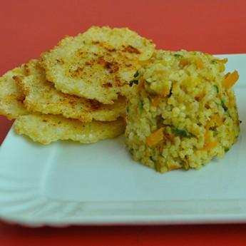 ricetta Sformatini di miglio con verdure e gallette croccanti