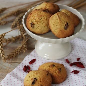 ricetta Biscottoni rustici alla farina gialla e bacche di goji