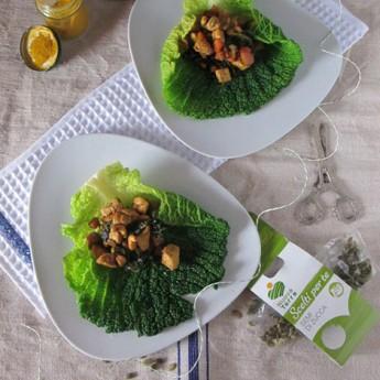 ricetta Involtini di verza e pollo con semi di zucca ai profumi d'oriente