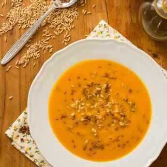 ricetta Passato di zucca speziato con avena e semi di lino
