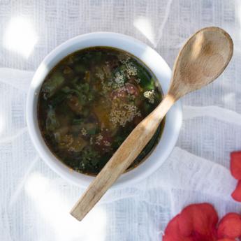ricetta Zuppa di amaranto con tenerumi
