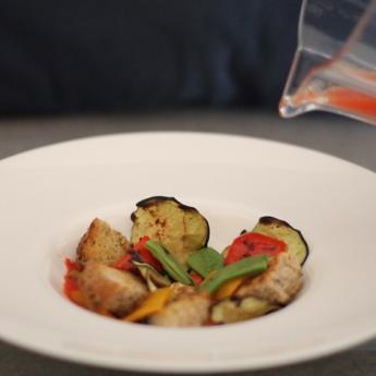 ricetta Zuppetta di verdure con pane croccante e semi