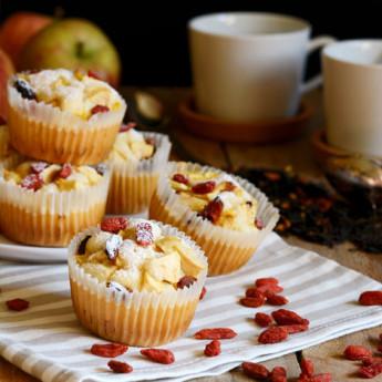 ricetta Tortine con mele, lime e bacche di goji