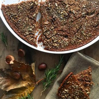 ricetta Castagnaccio con mix di semi golosi