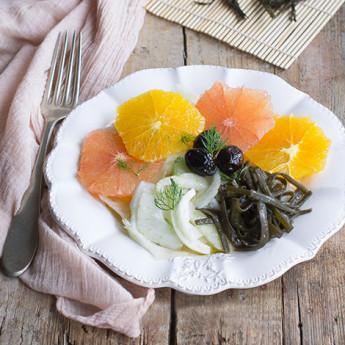ricetta Insalata di agrumi con alghe marinate