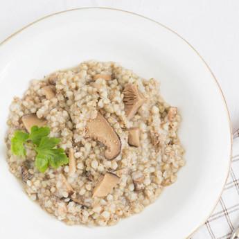 ricetta Zuppa di grano saraceno con funghi secchi