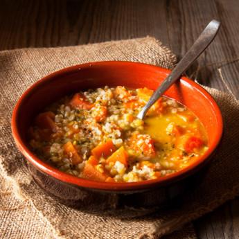 ricetta Zuppa al grano saraceno e zucca