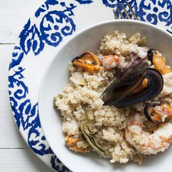 ricetta Bulghur di mare con carciofi