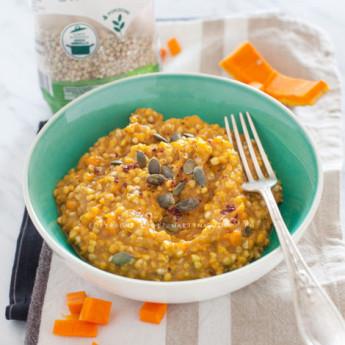 ricetta Risotto di grano saraceno alla zucca con sumac e semi di zucca