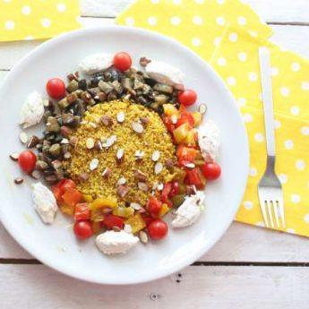 ricetta Cous cous con verdure, ricotta e mandorle