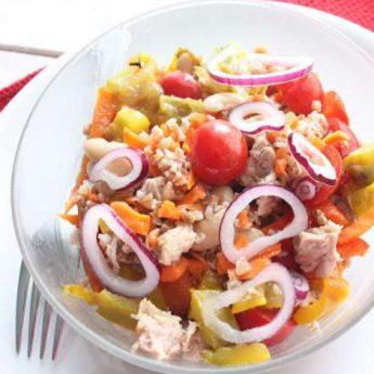 ricetta Farro con fagioli e peperoni