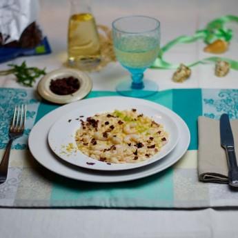 ricetta Risotto ai gamberi rosa e alga dulse