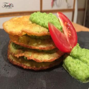 ricetta Pancake di ceci e crema di zucchine