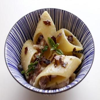 ricetta Pasta con filetto di pesce spada e alga dulse